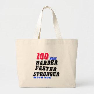Grand Tote Bag 100 plus forts plus rapides plus durs avec l'âge