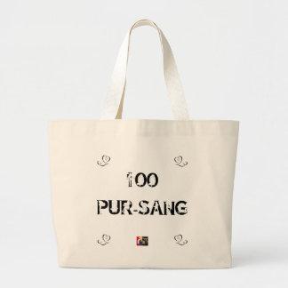 Grand Tote Bag 100 PUR-SANG - Jeux de Mots - Francois Ville