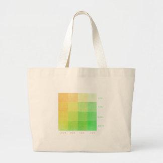 Grand Tote Bag 100% (vert et ocre)