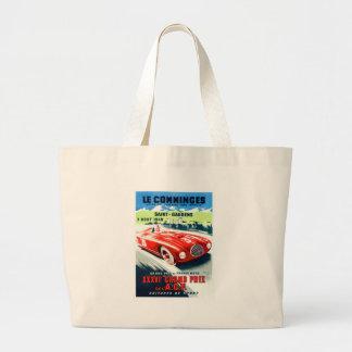 Grand Tote Bag 1949 Français Grand prix emballant l'affiche
