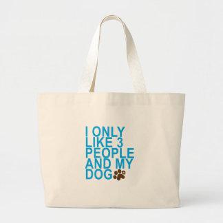Grand Tote Bag 3 personnes et mon chien.