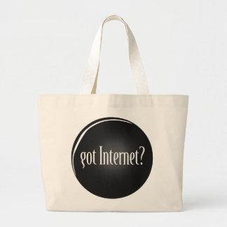 """Grand Tote Bag """"A obtenu l'Internet"""", Internet, Internet obtenu"""