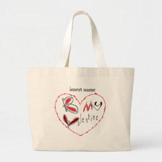 Grand Tote Bag Abeille mon Valentine