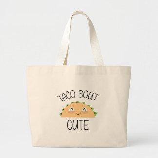 Grand Tote Bag Accès de taco mignon