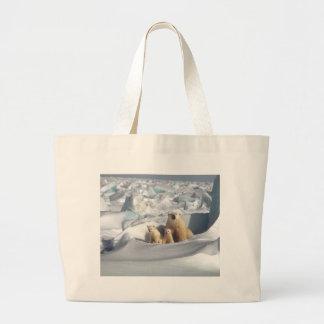 Grand Tote Bag Ajoutez le SLOGAN pour sauver la glace arctique de