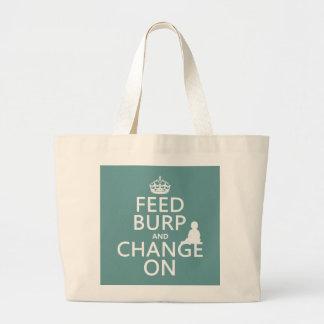 Grand Tote Bag Alimentez le rot et changez sur (bébé) (toute