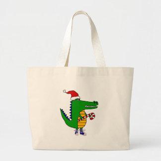 Grand Tote Bag Alligator mignon dans la bande dessinée de Noël de