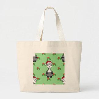 Grand Tote Bag alpaga de père Noël de Noël