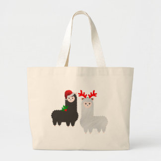 Grand Tote Bag alpaga de renne de Noël