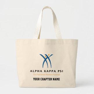 Grand Tote Bag Alpha nom et logo de livre par pouce carré de