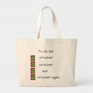 Grand Tote Bag amants fourre-tout de crochet