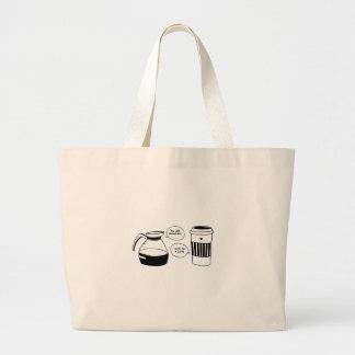 Grand Tote Bag Amour de Latte Valentine de café