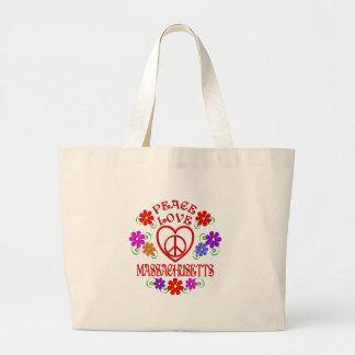 Grand Tote Bag Amour le Massachusetts de paix
