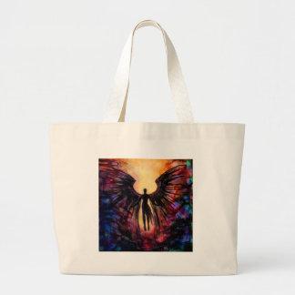 Grand Tote Bag Ange tombé - peinture contemporaine