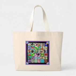 Grand Tote Bag Animaux d'alphabet
