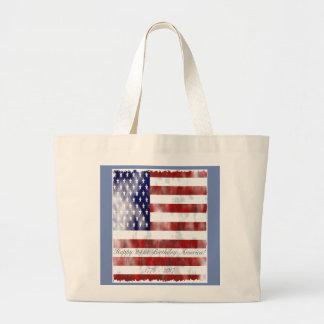 Grand Tote Bag Anniversaire américain Fourre-tout