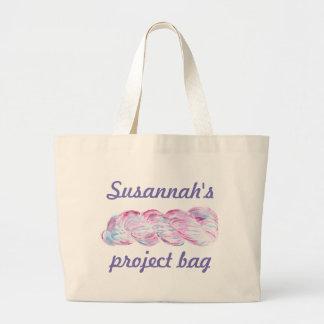 Grand Tote Bag Aquarelle d'écheveau de fil personnalisable