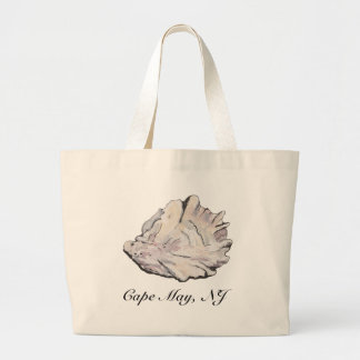 Grand Tote Bag Aquarelle personnalisée d'huître