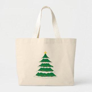 Grand Tote Bag Arbre généalogique de Noël de vacances gaies de