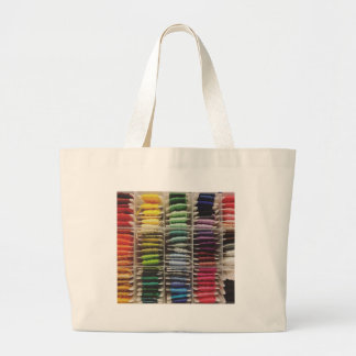 Grand Tote Bag Arc-en-ciel de soie de broderie