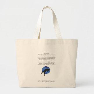 Grand Tote Bag Arc - poésie par Jessica Fuqua