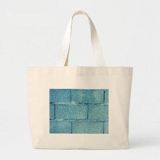 Grand Tote Bag Arrière - plan azuré de mur de briques