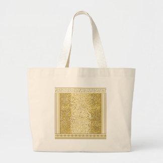 Grand Tote Bag Arrière - plan de style romain