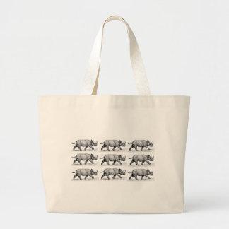 Grand Tote Bag Art courant de rhinocéros