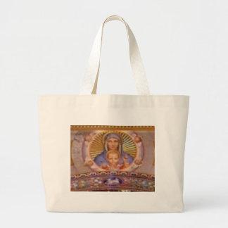 Grand Tote Bag art de Mary et d'enfant