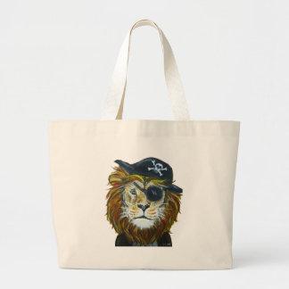 Grand Tote Bag Art de pirate de lion