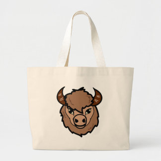 Grand Tote Bag art de visage de bison