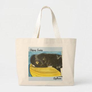 Grand Tote Bag art fourre-tout de smokey de sommeil