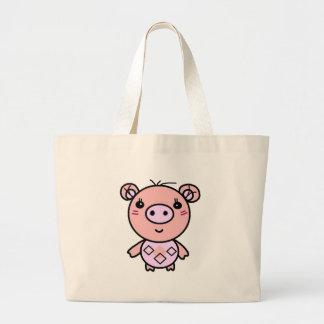 Grand Tote Bag art rose de porc