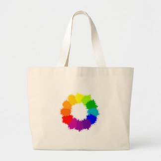 Grand Tote Bag Artiste de roue de couleur et professeur d'art