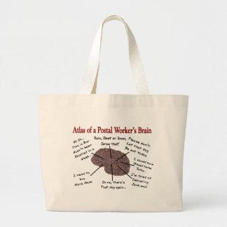 Grand Tote Bag Atlas d'un cerveau de travailleur postal