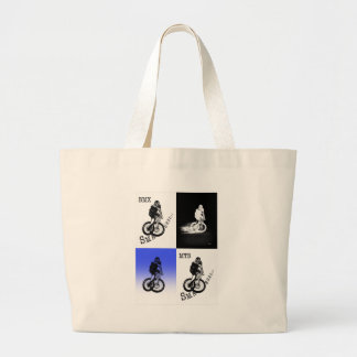 Grand Tote Bag Autocollants de CYCLISTE du cycliste MTB BMX de