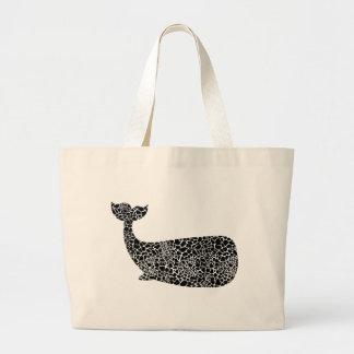 Grand Tote Bag Baleine avec la copie de girafe