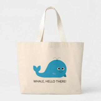 Grand Tote Bag Baleine, bonjour là !