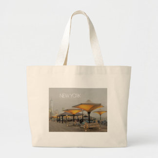 Grand Tote Bag Banc avec une vue de New York City