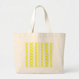 Grand Tote Bag Bande de roulement jaune de pneu
