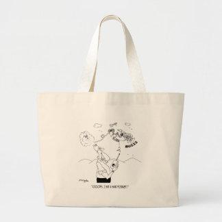 Grand Tote Bag Bande dessinée 5786 de cheveux