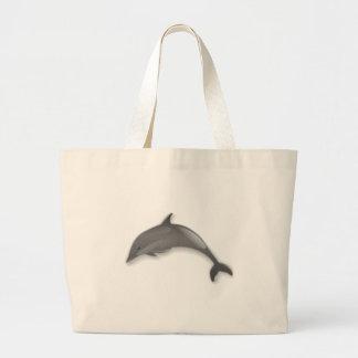 Grand Tote Bag Bande dessinée de dauphin