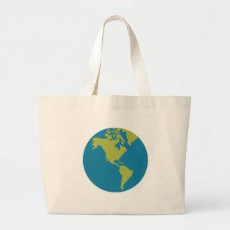 Grand Tote Bag Bande dessinée de la terre de planète