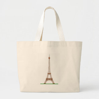 Grand Tote Bag Bande dessinée de Tour Eiffel