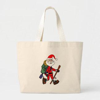 Grand Tote Bag Bande dessinée mignonne de Noël de randonnée du