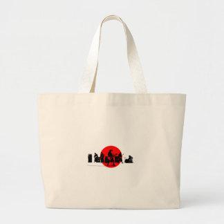 Grand Tote Bag Bande japonaise