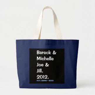 Grand Tote Bag Barack Michelle Joe et Jill Fourre-tout