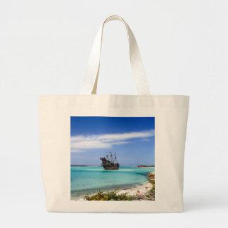 Grand Tote Bag Bateau de pirate des Caraïbes