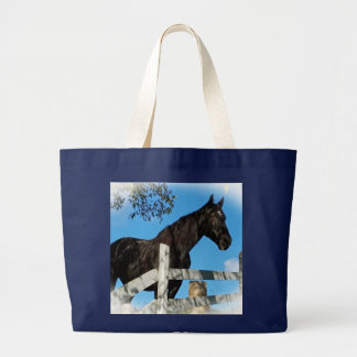 Grand Tote Bag Beau cheval noir