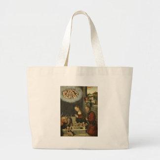 Grand Tote Bag Bergers adorant le bébé Jésus par Cranach